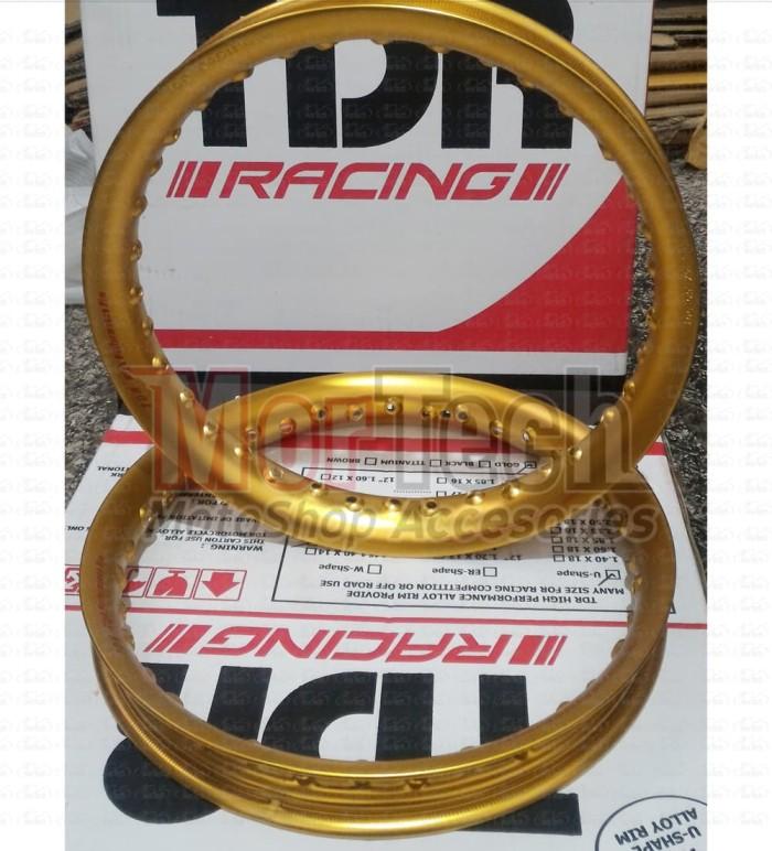 harga Velg pelek motor rim ruji jari tdr u shape ring 14 140-160 gold (1set) Tokopedia.com