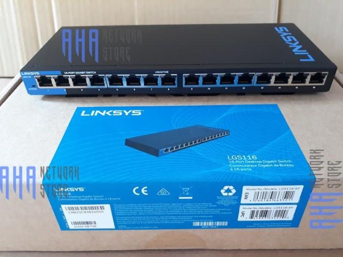 Jual LINKSYS LGS116-AP SWITCH HUB 16PORT GIGABIT LGS 116-AP   LGS116 AP -  Kota Surabaya - AHA Networkstore   Tokopedia