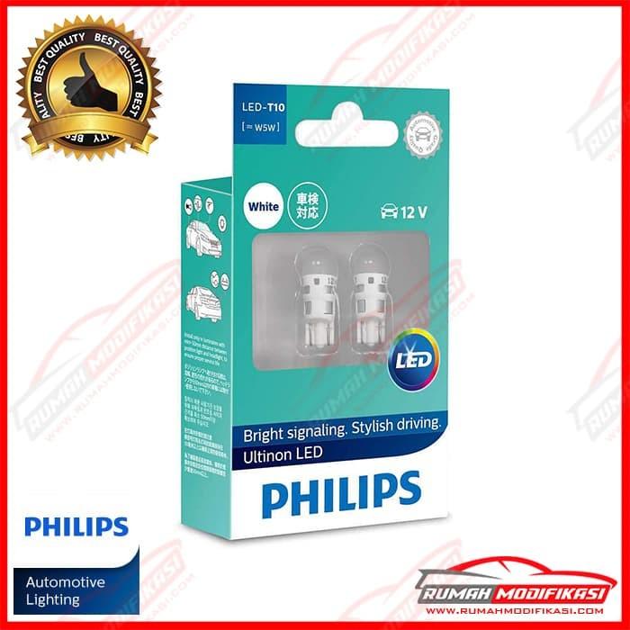 Foto Produk PHILIPS - ULTINON LED - T10 - W5W - LAMPU SENJA - LED - WHITE dari Rumah-Modifikasi