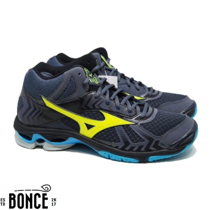 Jual Sepatu Volly Mizuno Wave Bolt 7 Mid Ombre Blue Original Kab