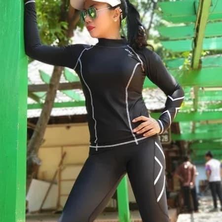 harga Setelan baju senam 2xu womens compression long sleeve Tokopedia.com