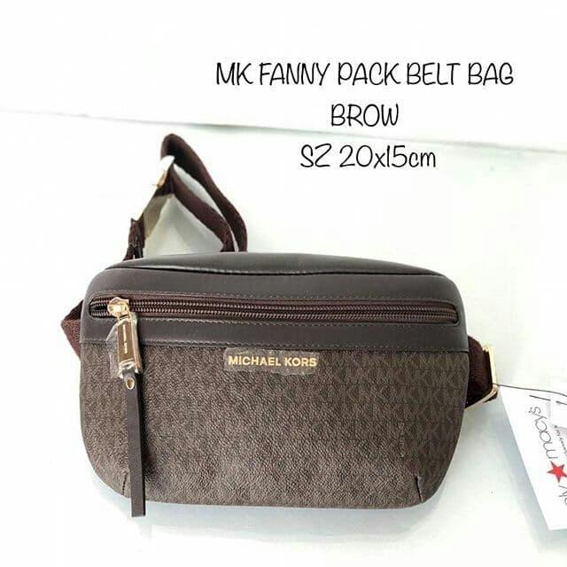48429ee94b12 Jual Tas Michael Kors original - Mk fanny belt bag brown in - ori ...