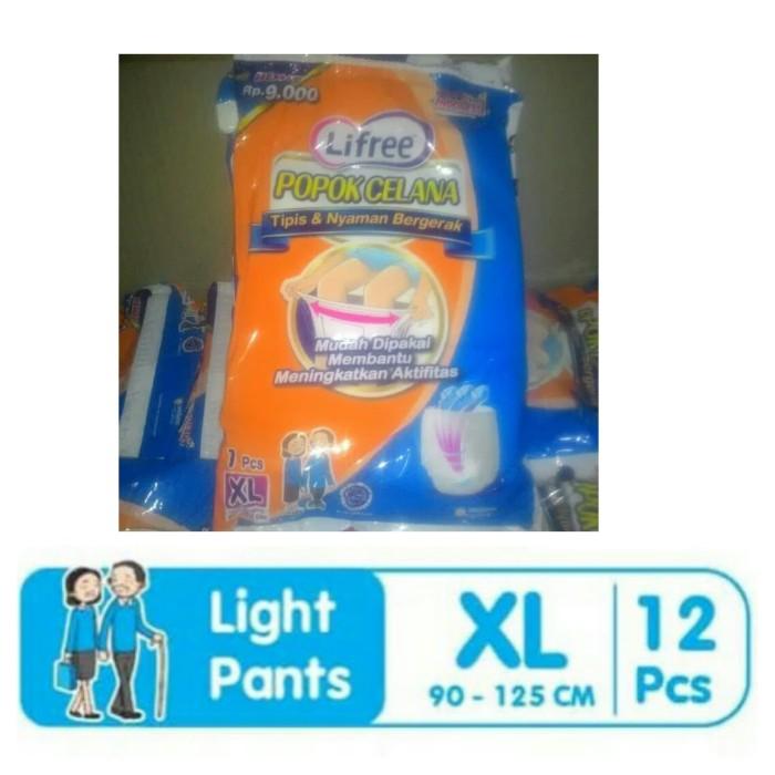 Lifree popok celana Biru tipis & nyaman bergerak Xl12
