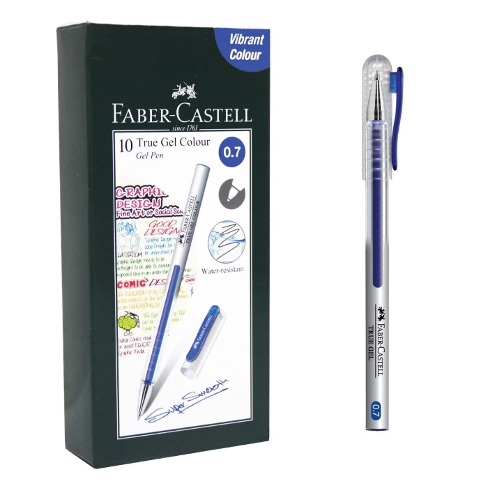 Faber-Castell True Gel Pen -- Blue Ink 0.7 mm