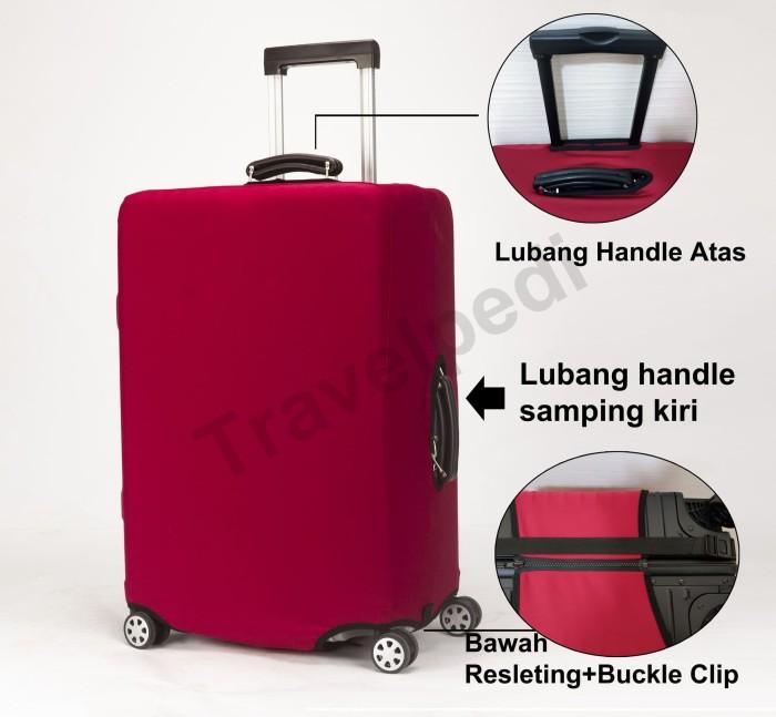 Premium Sarung Koper Elastis Cover Pelindung Luggage Cover Three Bears