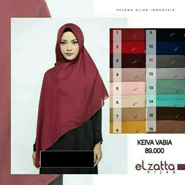 Hijab Bahan Voal Polos 59