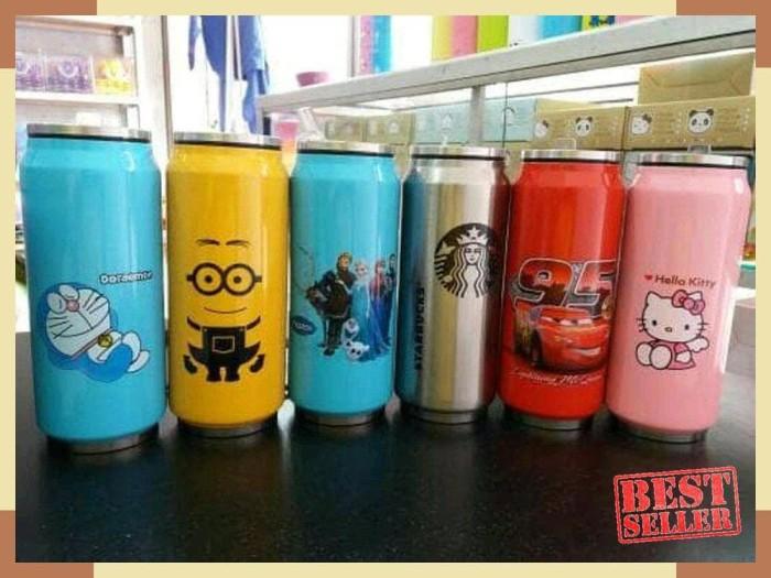 BARU Botol minum kaleng termos insulated mug karakter