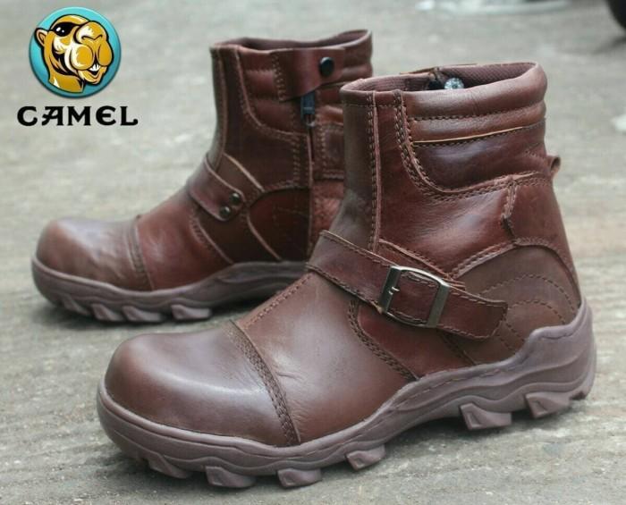 Jual Sepatu Camel X Zoom Brown Kulit Asli Safety Boots Pria Mandor ... c376d3f21e