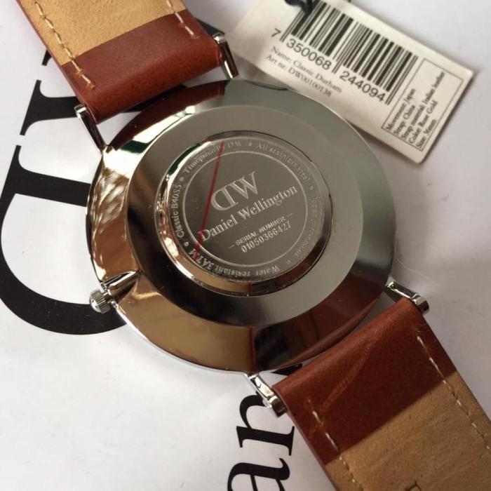 New Jam Tangan Daniel wellington classic durham silver black 40mm