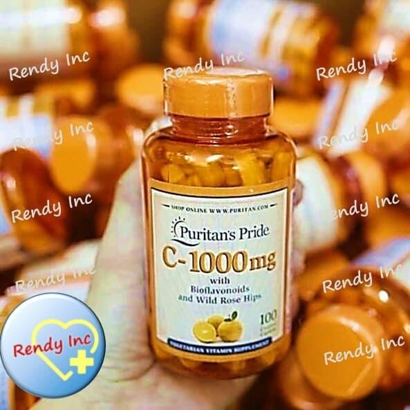 Puritan Pride Vitamin C 1000mg with Bioflavonoids&Rose Hips 100 Caps