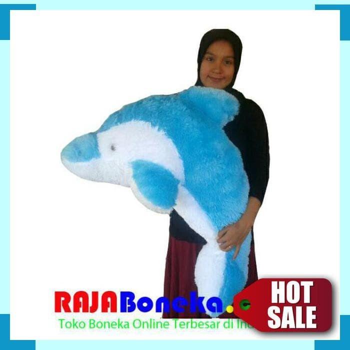 Boneka Lumba Lumba Dolphin Jumbo Biru 1 M Halus Lembut Berkualitas f1aa670360