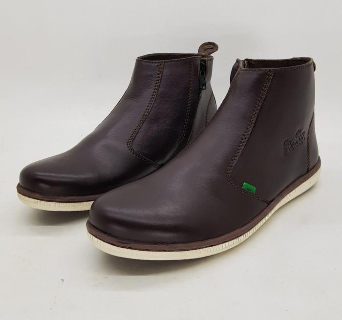 Foto Produk Sepatu kulit pria premium, chelsea boots, PR05 Finotti (ada 2 warna) dari Jual Sepatu Sepatu Jual