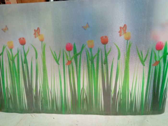Jual Fiber Pagar Fiber Plat Fiber Tutup Pagar Motif Bunga Tulip