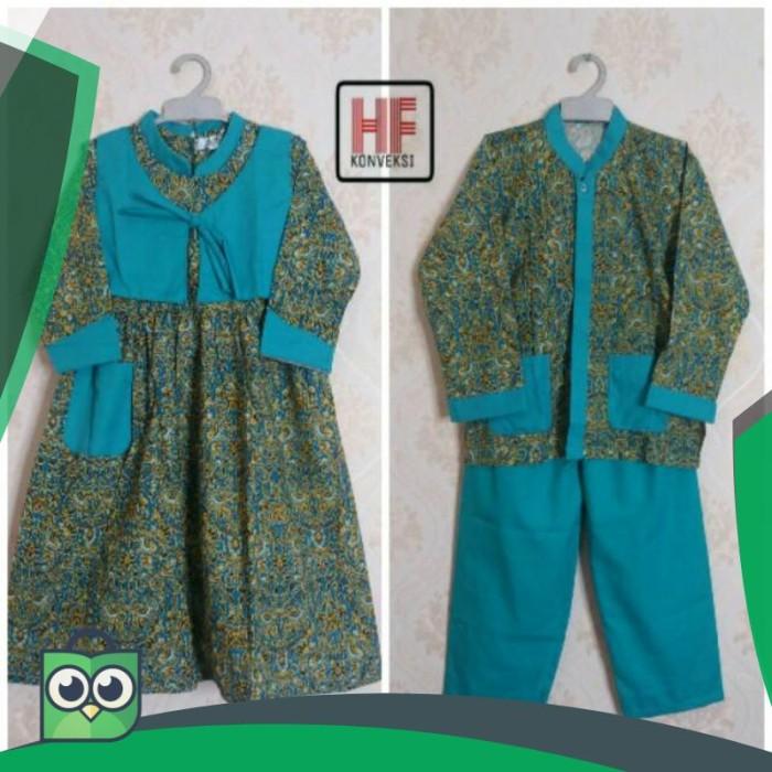 Jual Seragam Muslim Anak Tk Baju Muslim Gamis Tk Batik Tosca Jakarta Pusat Nashika Collection Tokopedia