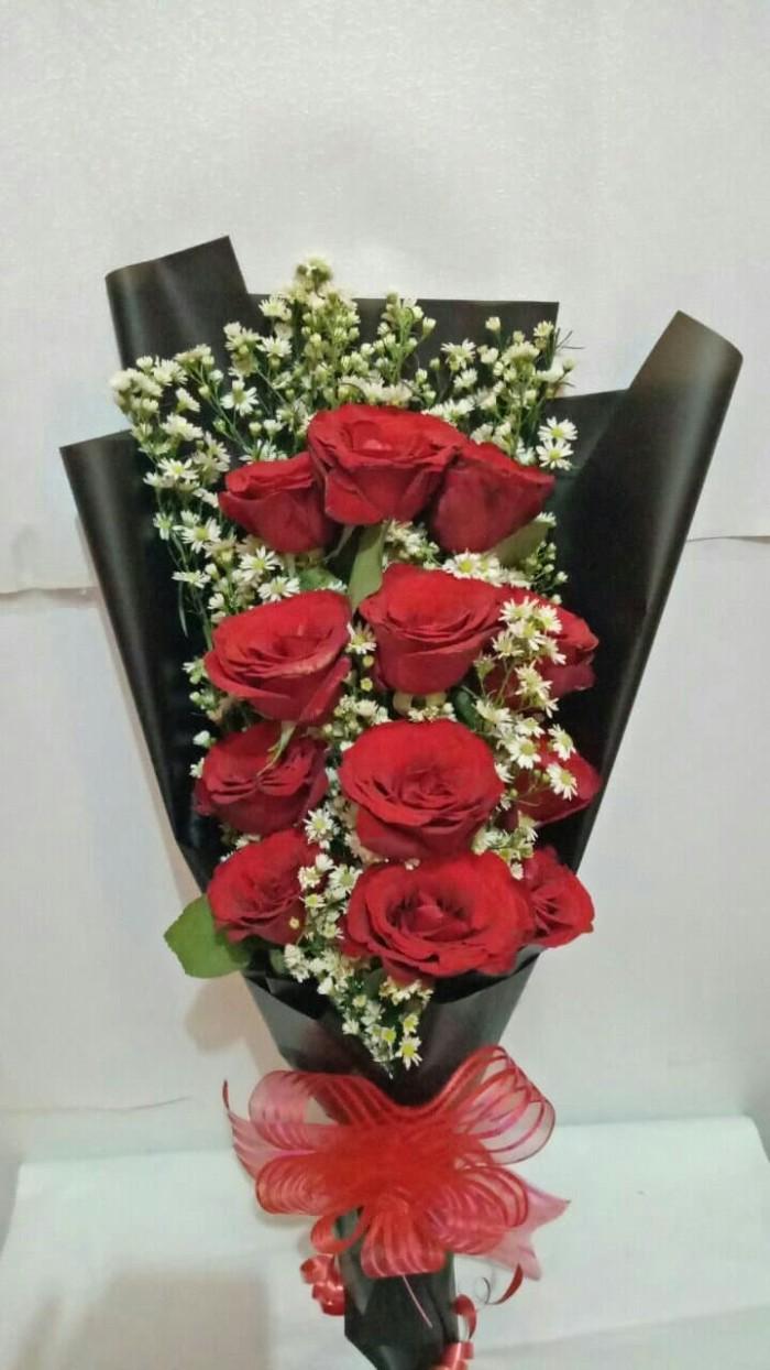 Jual Hand Bouquet Bunga Tangan Bunga Mawar Mawar Merah Rose Jakarta Selatan Vana Florist Terogong