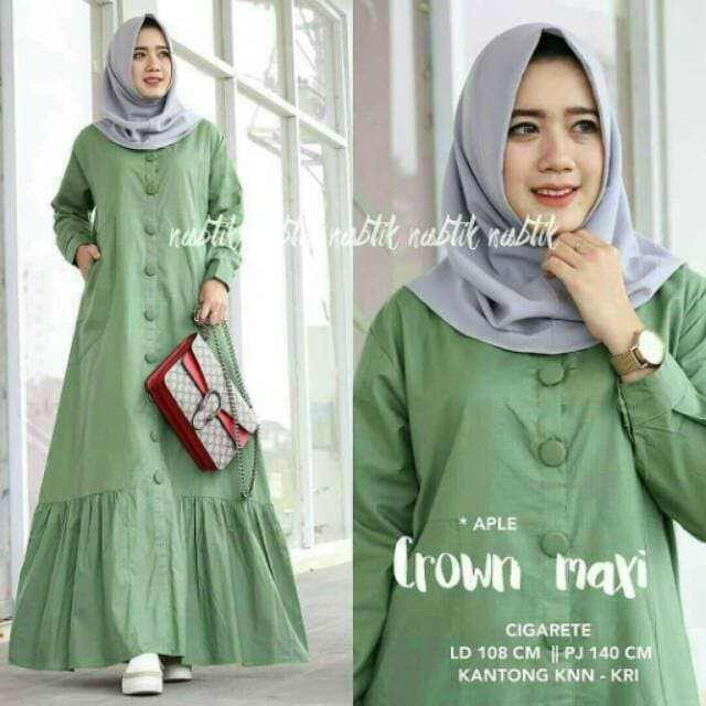 Jual Crown Maxy glosir baju gamis dress wanita baju gamis muslim ... 69ec5d54c8