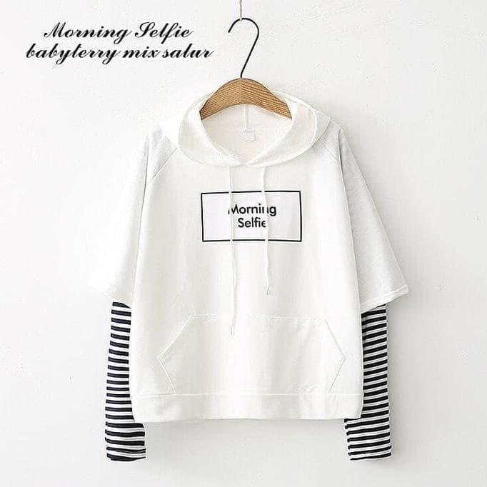 Jual Promo Sweater Morning Selfie Baju Wanita Muslim Pakaian Hangat ... d4f84fdb35