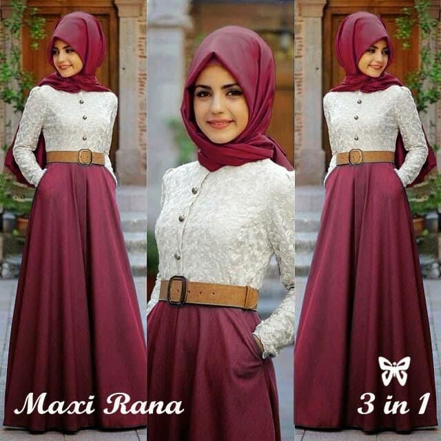 Jual Baju Atasan Gamis Wanita Muslim Syari - MAXI RANA Murah - dress ... 37cd6f6a4f