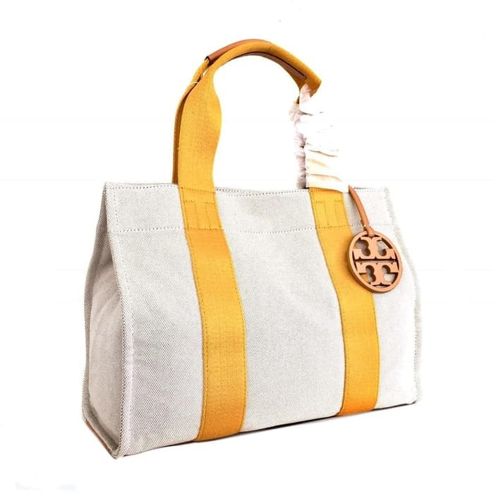 6ef828a9b5a Jual Tory Burch Miller Canvas Tote Big - Yellow - lucky mart 999 ...