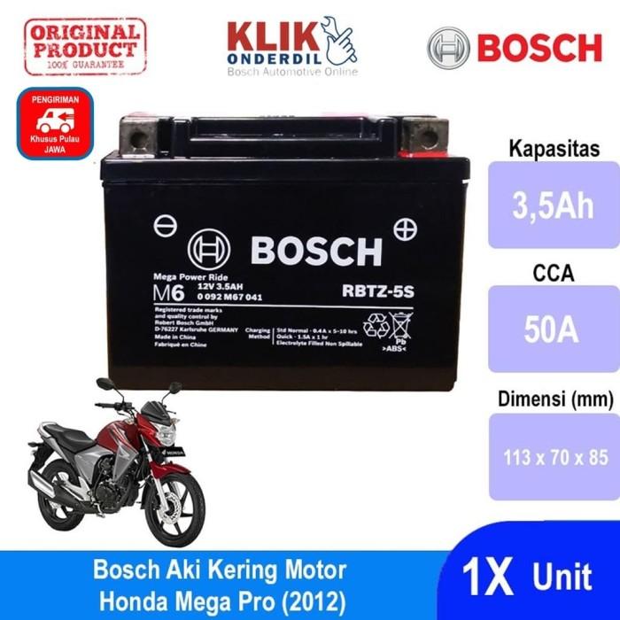 harga Bosch aki kering motor honda mega pro (2012) agm rbtz5s - 0092m67041 Tokopedia.com