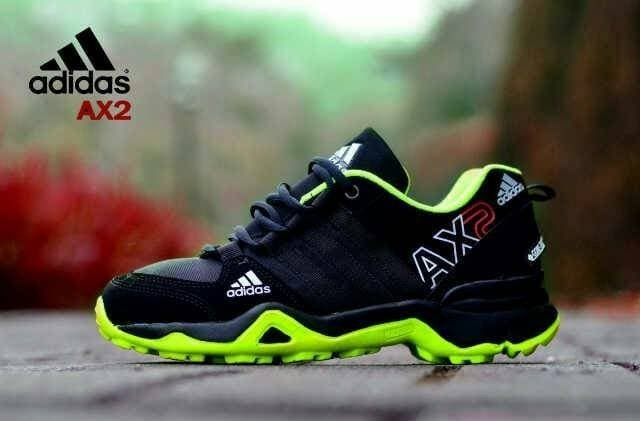 Sepatu Adidas Ax2 Hitam Hijau 1