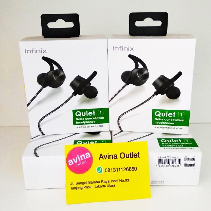 harga Infinix earphone noise cancelling xe02 - hitam ( hot note zero 2 3 ) Tokopedia.com