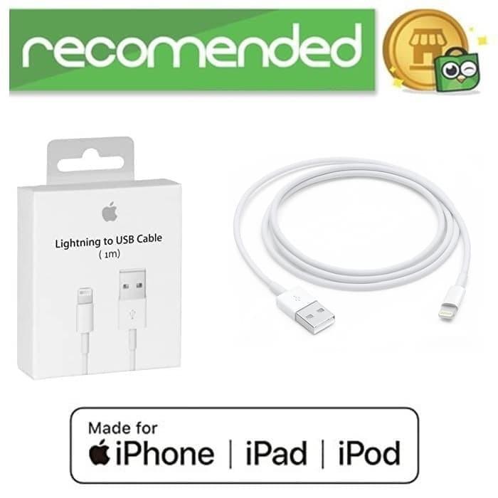 harga Cable kabel charger data original ios iphone 5/s/6/6+ ipad air/mini Tokopedia.com