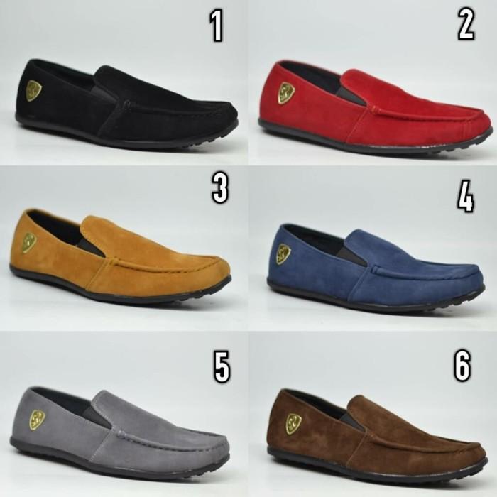 Jual Sepatu slip on pria Ferrari sepatu slop sepatu flat pria Murah ... a2912ff6da