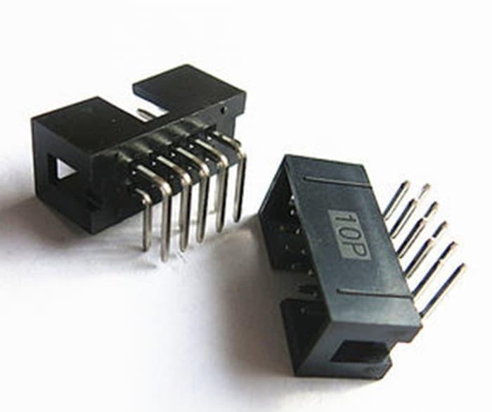 2.54mm 2x5 10 Pin IDC PCB Header Socket 5 PACK