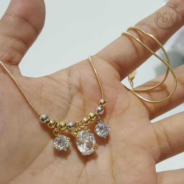 Baru Kalung Korea Xuping Berliontin Gold SG5 10 Emas 18k Baru Source · XD33 Kalung Koye Bola 3 Dimensi Silver Rose Gold Perhiasan Xuping Emas