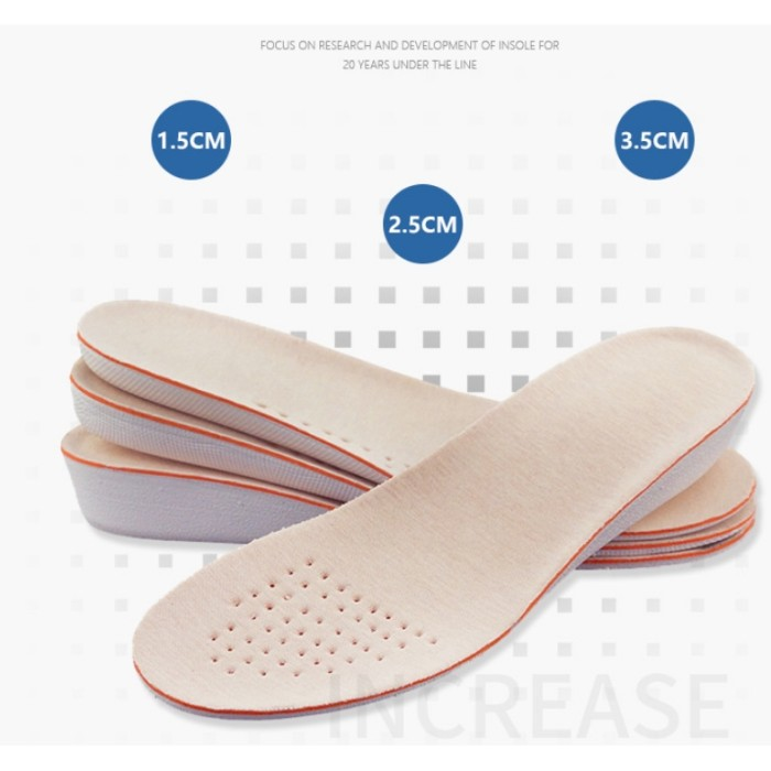 Men Women 1.5cm / 2.5cm / 3.5cm Increase Height heel Insoles Shoe
