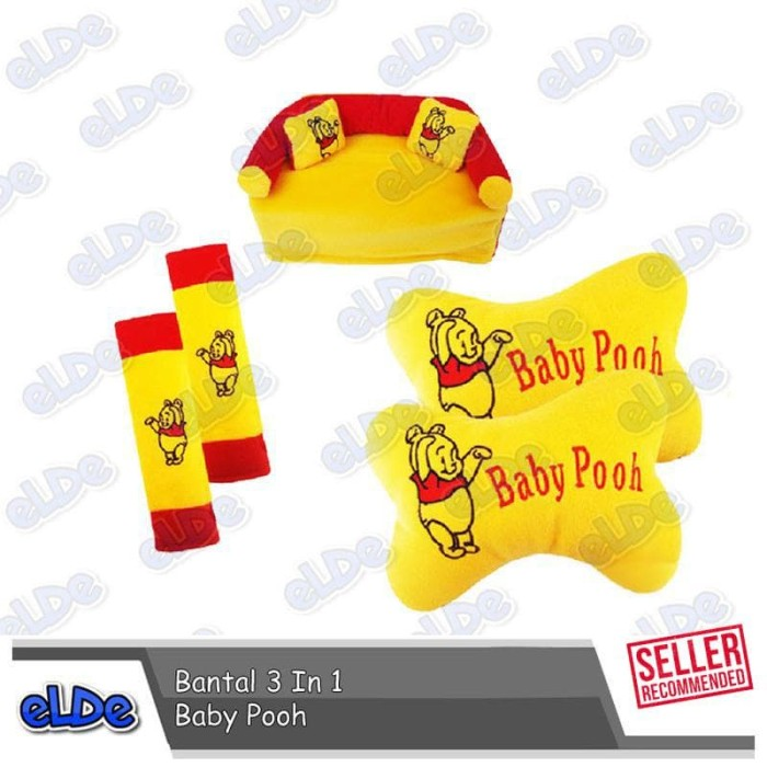 Bantal Mobil 3 In 1 Baby Pooh Great New Xenia