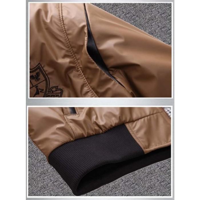 Jaket Wp Coklat Bahan Waterproof Anti Air Tersedia 6 Warna Pilihan