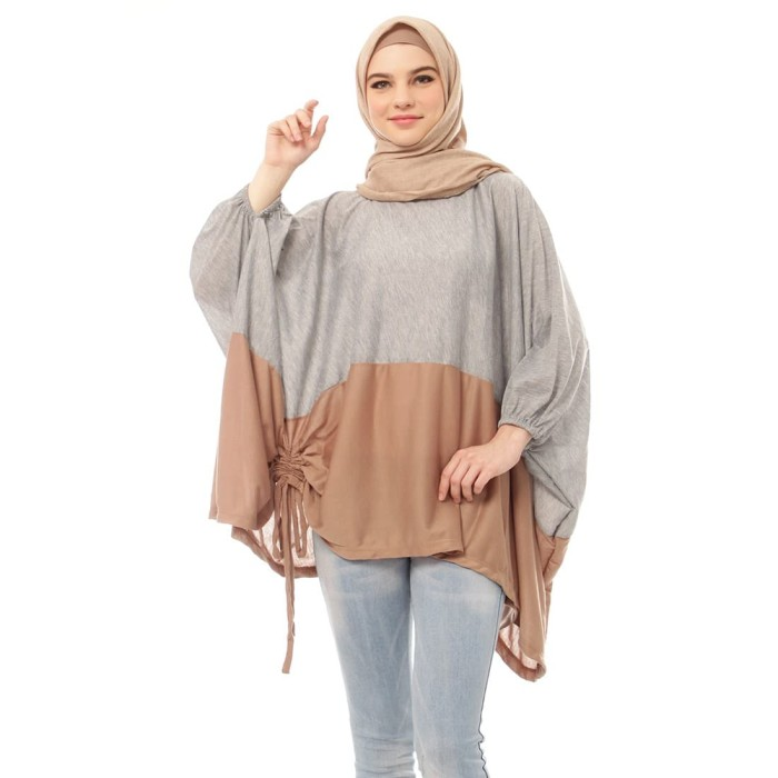 Mybamus two tone wings top misty mocca m14251 r72s2