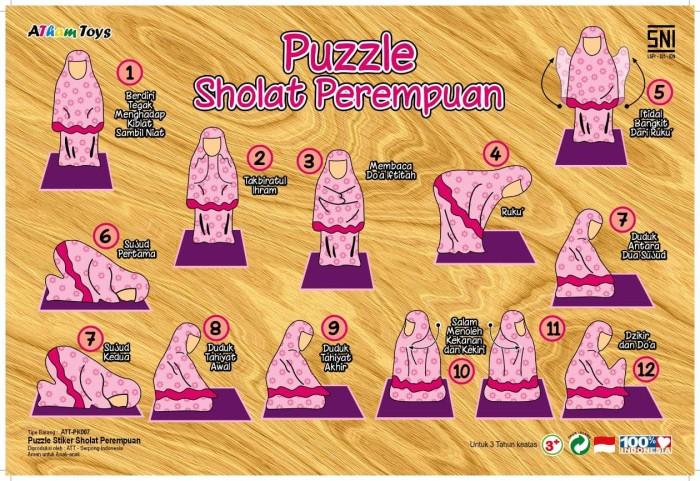 Jual Mainan Anak Edukasi Puzzle Islami Sholat Wudhu Mengenal