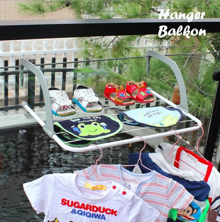 harga Hanger balkon jemuran gantung serbaguna sepatu kaos kaki baju bayi dll Tokopedia.com