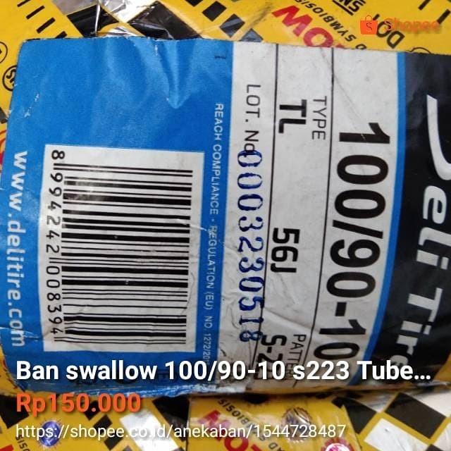 harga Ban swallow 100/90-10 s223 tubeles untuk vespa klasik (px sprint exce Tokopedia.com