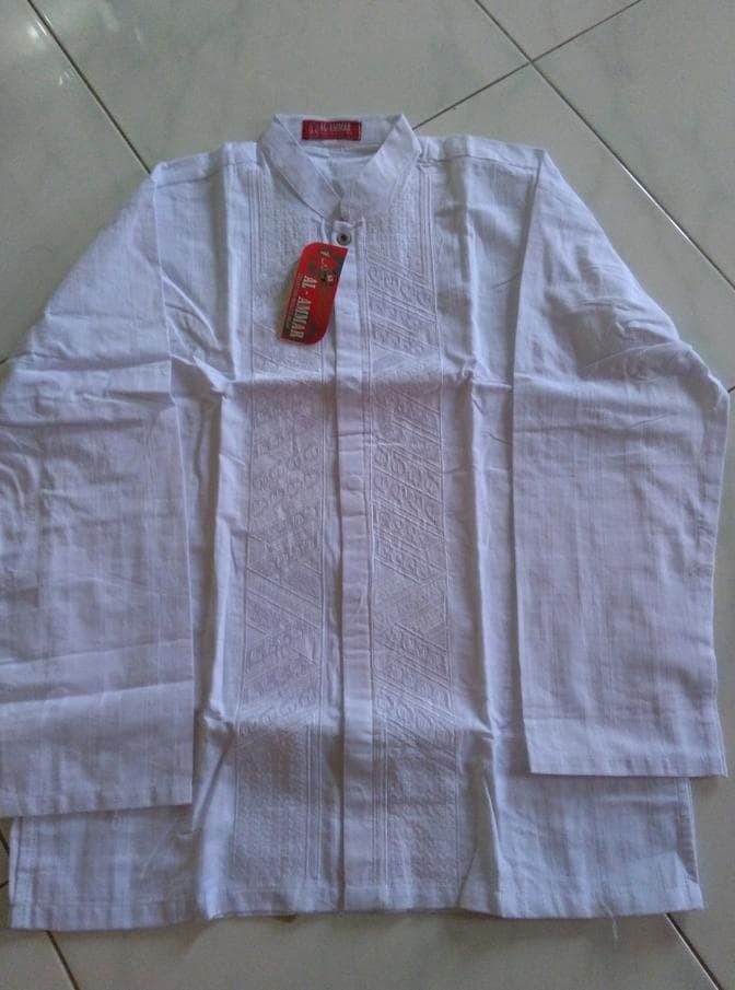 Baju Koko Al-Amar Putih, Katun Super, M-Xl