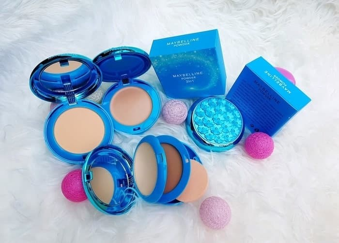 BLUE STAR - Bedak Biru 2in1 Maybelline Powder+Foundation / Padat+Basah