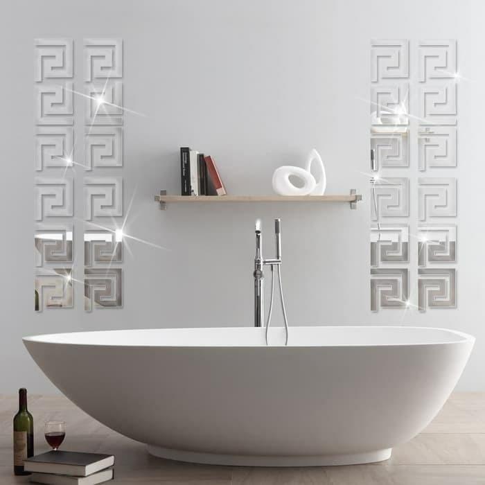 jual wall sticker cermin stiker hiasan dinding kaca cermin labirin