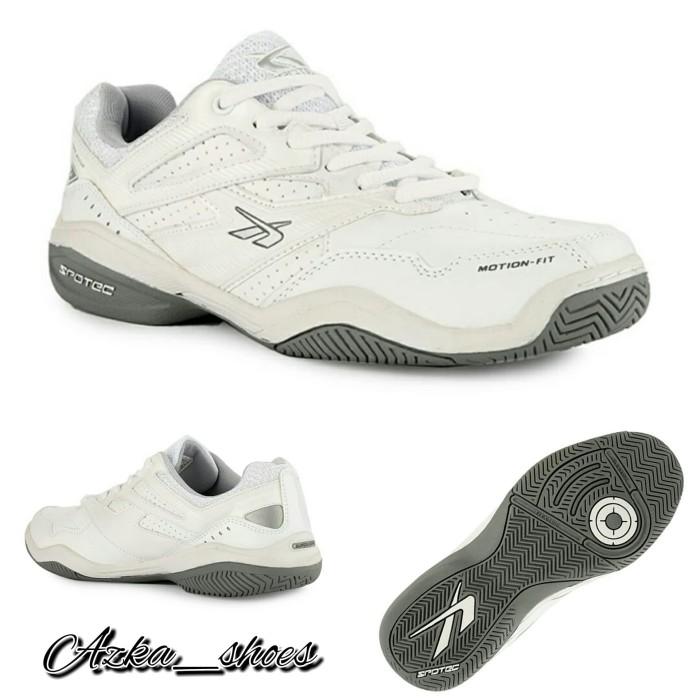 Jual Spotec Nelson Sepatu Tennis Pria Wanita - Putih Abu-abu ad8225a2dc