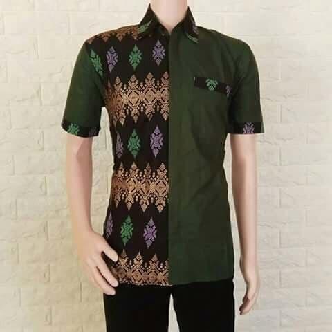 Jual Kemeja Batik Pria Modern Batik Kombinasi Batik Pekalongan Kab Pekalongan Batik Pekalongan Faiq Tokopedia