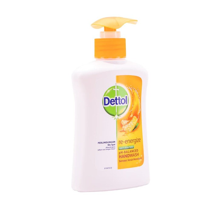 Dettol Sabun Cuci Tangan Re-energize Pump 225ml Hand Wash