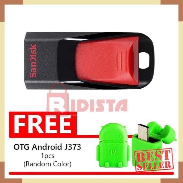 SanDisk Flashdisk Cruzer Edge CZ51 16GB + FREE BONUS OTG Android J373