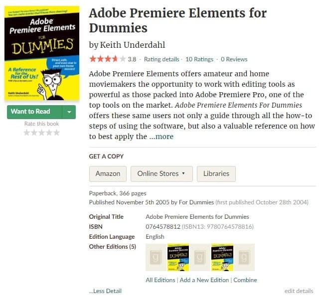 Jual Adobe Premiere Elements For Dummies Keith Underdahl Ebook