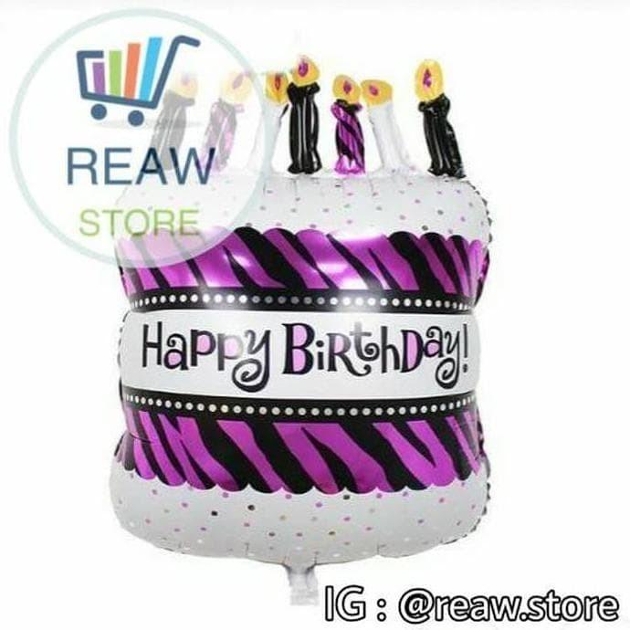 Jual Balon Foil Kue Ulang Tahun U002f Birthday Cake Pink Fanta 60cm Jakarta Pusat Nasreawstore Tokopedia