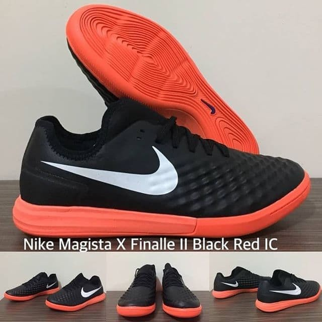 Jual Sepatu Futsal Nike Magista X Finalle Ll Black Red Ic Kota