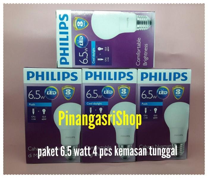Lampu LED Philips 7 watt Bohlam 7w Putih 7 w Bulb 7watt Packing 4 pcs