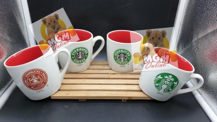 harga 4pc gelas starbucks mug collection items thn 1971 & 1987 & 1992 & 2011 Tokopedia.com