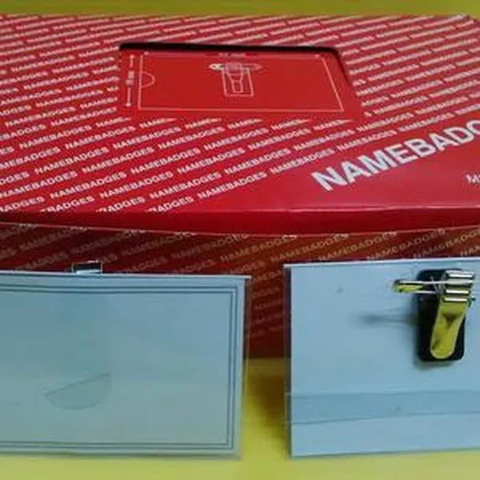 harga Name tag jepit peniti / tanda pengenal / id card / card case Tokopedia.com